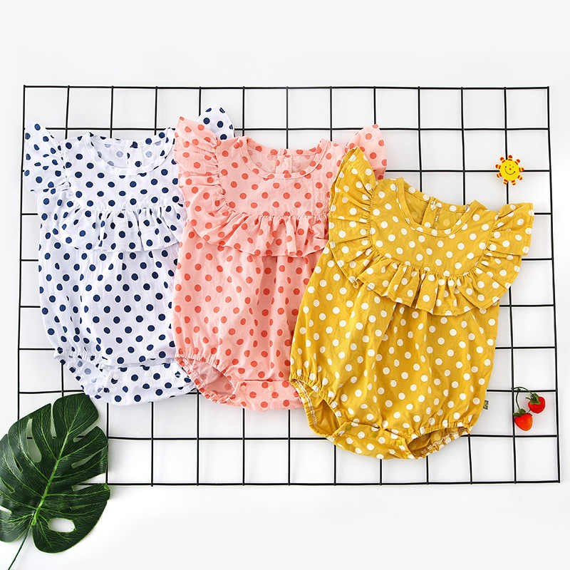 2019 Summer Newborn Baby Girl Clothes Brand New Infant Girl Bodysuit Sleeveless Baby Romper Cute Kids Sunsuit 0-12m