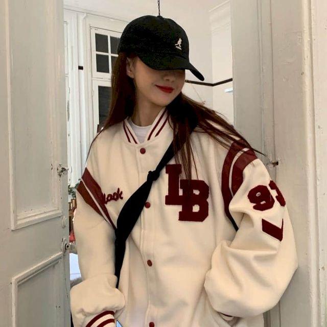 Jacket Women Jackets Oversized Baseball Punk Clothes Autumn/winter New Clothes Korean Students Thickened Plus Velvet Sweatshirt 2