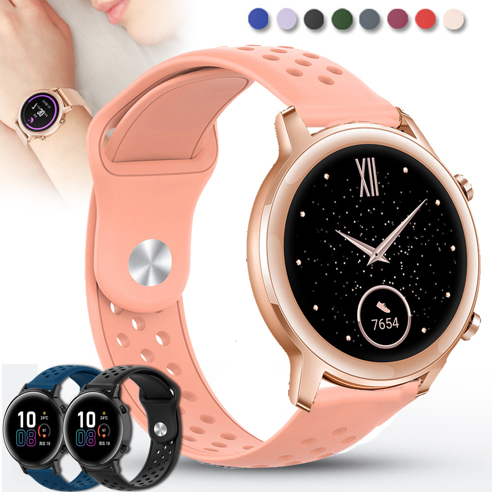 For Huawei Honor Magic Watch 2 GT 2 42mm Band Quick Replacement 20mm Watch Strap Silicone Bracelet Watchband Pulseira Pемешок