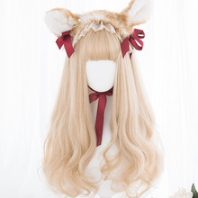 Cosplay Wig Blonde Wavy Lolita-Long Bang Heat-Resistant Ombre Synthetic Cute Mix 70CM