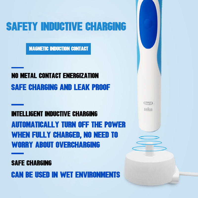 Original Oral B Vitality Electric Toothbrush Rechargeable With 2 Minutes Timer And Oral B Teeth Brush Heads Precision Clean