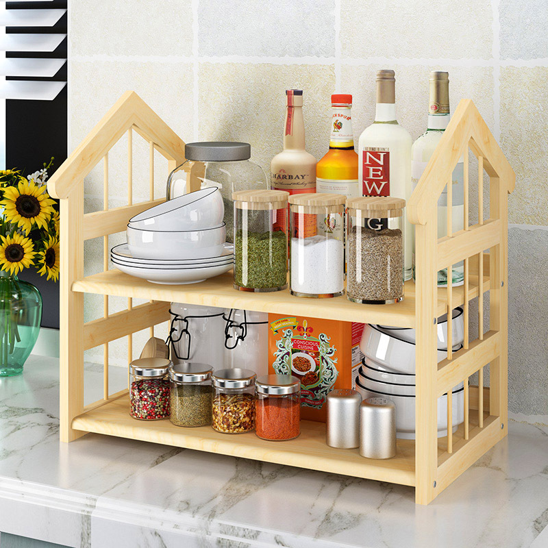 Kitchen Shelves Hole Punched Storage Rack Home Angle Frame Tableware Rack Floor Bowl Cabinet Shelf Balcony Storage