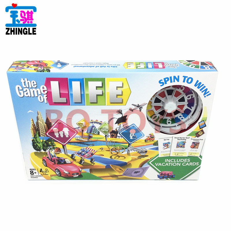 English Board Game Life Luda Turntable With Card English Version Life Monopoly Board Game Toy
