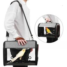 Bird Travel Carrier Transparent Portable Parrot Tote Backpack with Double Zipper Design clear design double zipper front backpack
