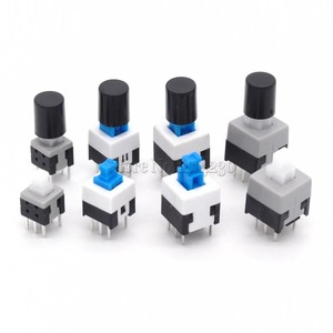 10Pcs Non-Self-Locking Switch / Self-Locking Switch 5.8*5.8 7*7 8*8 8.5X8.5MM Key Switch Cap Switch