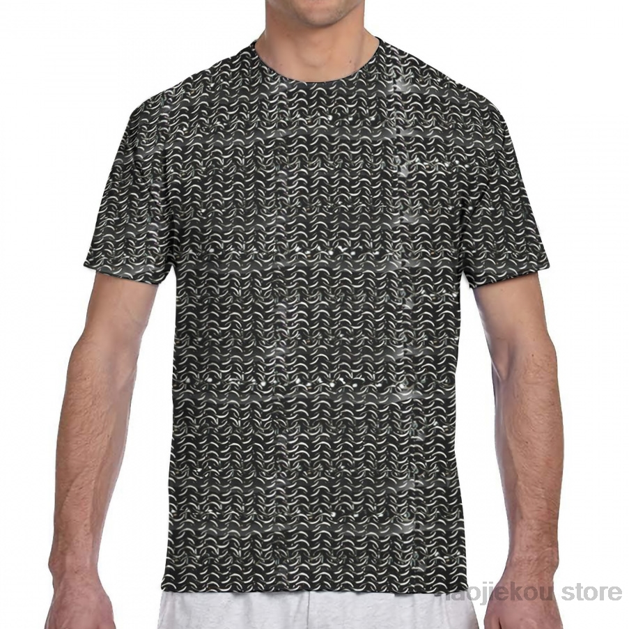 Chainmail Medieval Armor Art Men T-Shirt Women All Over Print Fashion Girl T Shirt Boy Tops Tees Summer Short Sleeve Tshirts