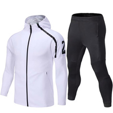 2019 Sport Suit Winter Men Soccer Running Hoodie Jackets Long Sleeve Tracksuit Jersey Training Football Suits