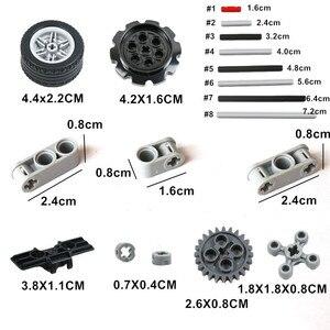 Image 4 - Technic bloques de construcción a granel, 250g, estante con ruedas, accesorio de coche MOC, Conector de Pin, juguetes compatibles con Lego