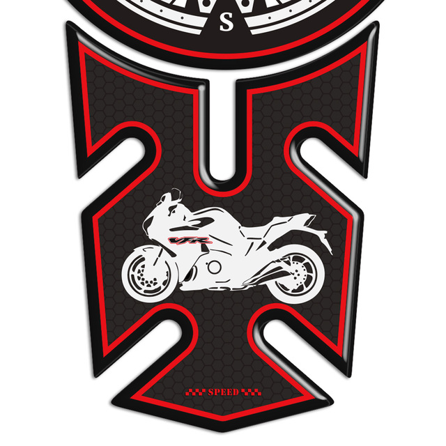 VFR 400 750 800 1200X X F Motorcycle 3D Stickers Side Panel Protector For Honda Fairing Decals Emblem Badge Tank Pad Protection
