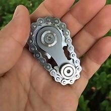Volant volant doigt jouet en acier inoxydable pignons bout des doigts Gyro chaînes de pignon en métal jouet engrenage Gyro Sproket Roadbike Spinner