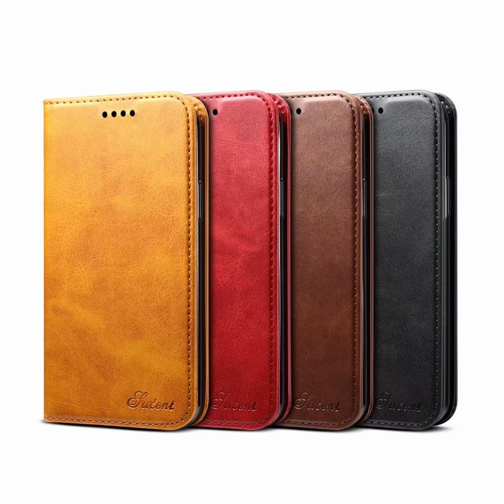 YXAYN Classic Style Leather Flip Wallet Case Magnetic Card Holder Phone Cover For iPhone