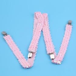 Модные эластичные подтяжки с пайетками, регулируемые, для женщин, мужчин, унисекс, зажим, кронштейн, эластичный слинг, y-ремень, слинг, одежда
