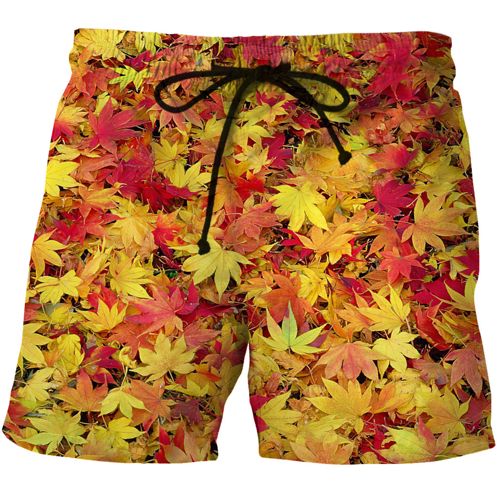 Men's Quick Dry Shore Shorts 3D Animation Creative Shorts With Two Side Pocket Printing