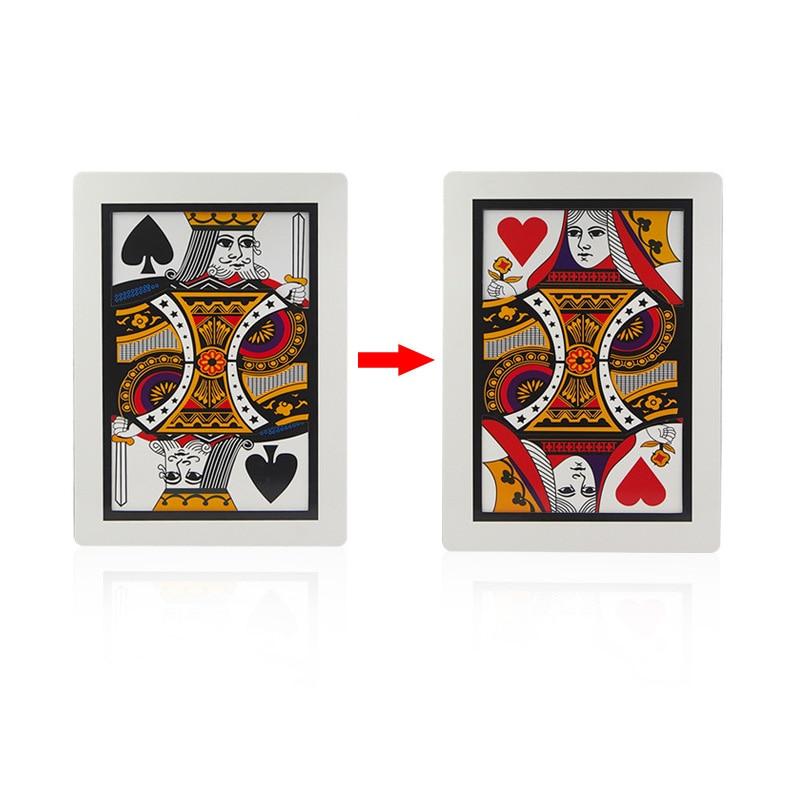 3pcs//lot Automatic Three Card Monte Card Magic Tricks Poker Size,8.8x6.4cm