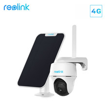 Reolink 4G LTE batteria fotocamera Pan & Tilt funziona con SIM Card Audio a 2 vie 1080p start light visione notturna PIR 100% Wireless Cam Go PT