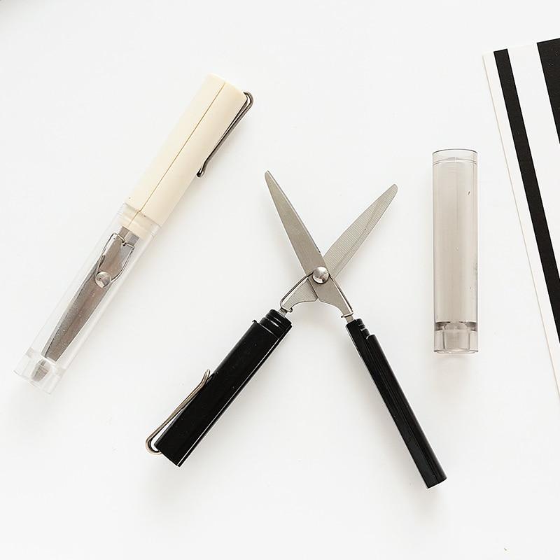 Portable Cute Scissors Pen Mini Students Art Scissors Planner ABS Paper-Cut Office Knife School DIY Tools Creative Stationery