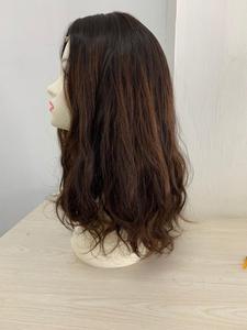 Image 4 - รับรองKosher 18 นิ้วสีน้ำตาลเข้มเน้นยุโรปVirgin Hair Kosherวิกผมชาวยิววิกผมที่ดีที่สุดSheitelsจัดส่งฟรี