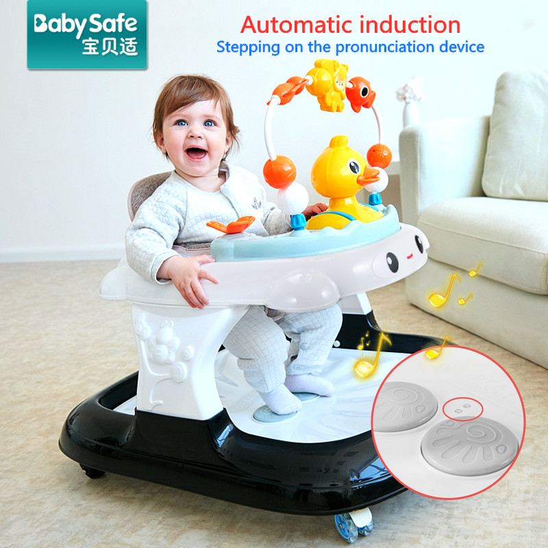 Baby Walker Boys And Girls Learning Walking With Music Baby First Steps Car Djustable ABS Walker Learning Educational Car