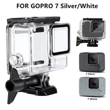 Waterproof Housing Case for GoPro Hero 7 White & Silver Protective 60m Underwater Dive Case Shell for Go Pro Hero7 Action Camera