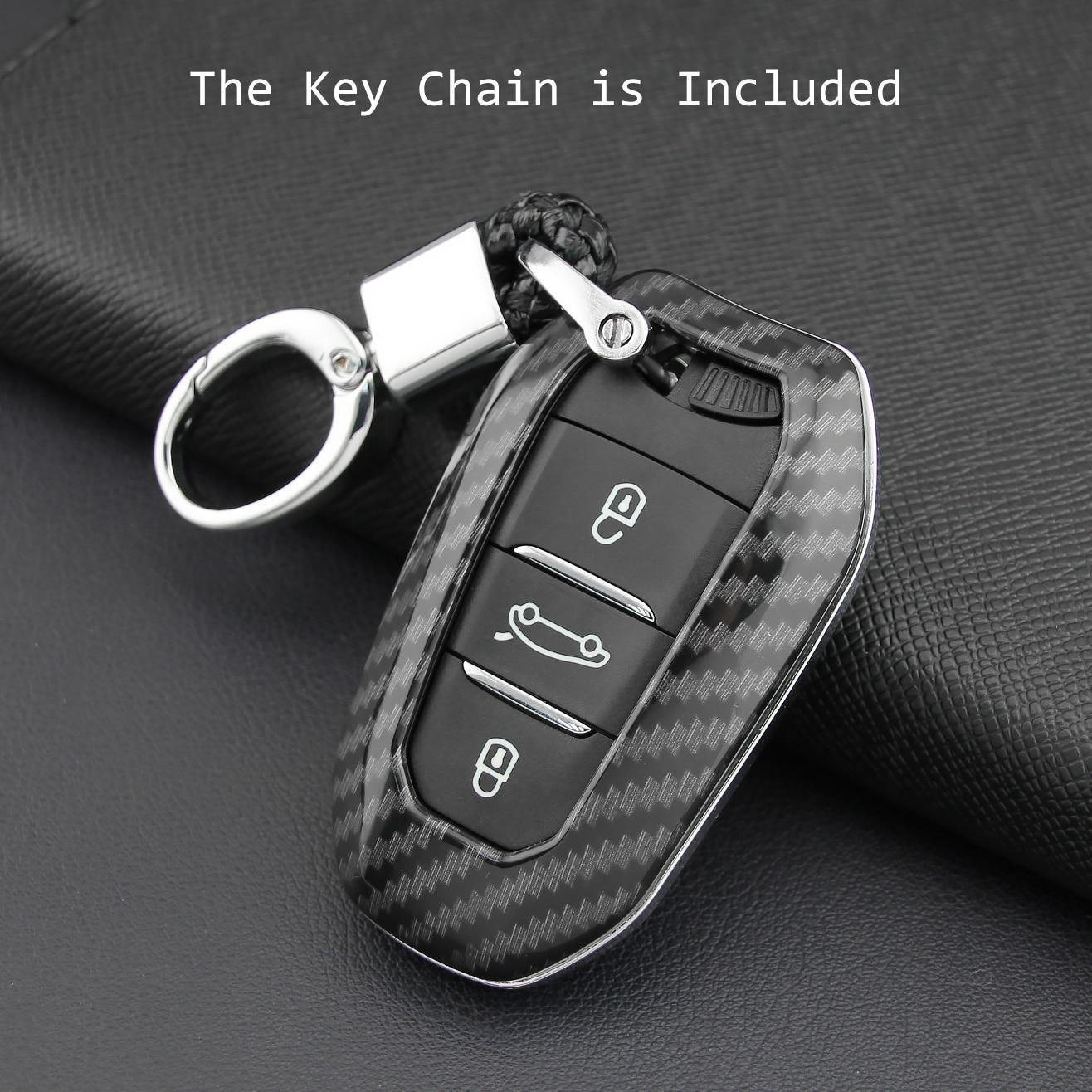 Image 3 - Klucz pokrywa obudowa pilota łańcuch dla Peugeot 508 3008 5008 Citroen C3 C5 Aircross Grand C4 Picasso DS 4S 5 3 7 Crossback DS3 DS5 DS7Etui na kluczyki samochodowe   -