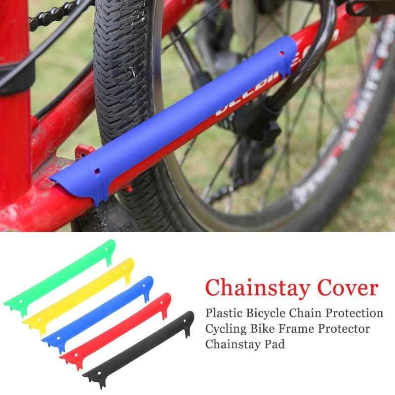 Plastic Fietsketting Bescherming Chain Stay Guard Cover Fietsen Bike Frame Protector Achtervork Guard Cover Pad