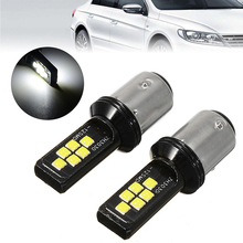 цена на 2PCS 12V-24V DC 12SMD-3030 1157 BAY15D P21/5W Cree Chips LED Car Reserve Lamps Auto Brake Light Bulb Super White 6000K