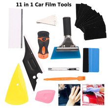 11pc Car Window Tint Film Wrapping Vinyl Tools Squeegee Scraper Applicator Kit Car Styling Accessories Window Tint Wrapping Tool