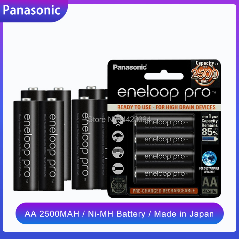 1.2V 2500mAh Panasonic Eneloop NI-MH AA Rechargeable Battery For Flashlight Camera Toy Remote Control Charged High Capacity