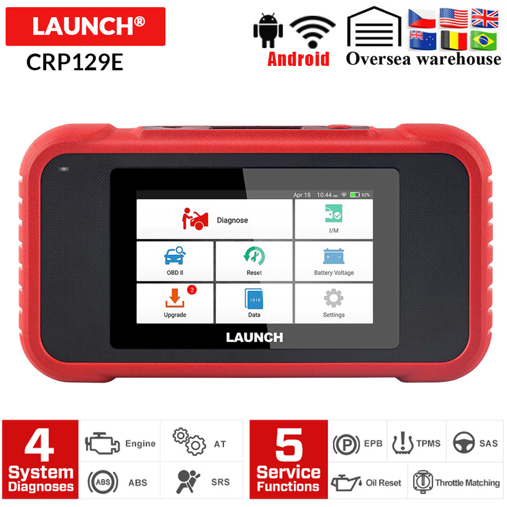 Launch X431 CRP129E Creader 129E obd 2 Diagnostic Tool Code Reader Launch diagnosis scanner with 5 Reset Functions CRP NT650 129