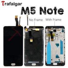Meizu M5 not LCD ekran dokunmatik ekran Digitizer M621H M621Q M621M M621C Meizu M5 not ekran çerçeve değiştirme ile