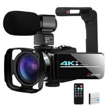 Câmera de vídeo youtube para vlogging streaming ao vivo ir visão noturna uhd 4k webcam 48mp 16x câmera digital