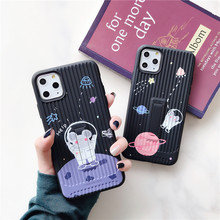 Cute starry sky Mouse stripe Phone Case for Iphone 11 Pro Max Soft Case for Iphone X Xr Xs Max 7 8 Plus Back Cover With stents(China)