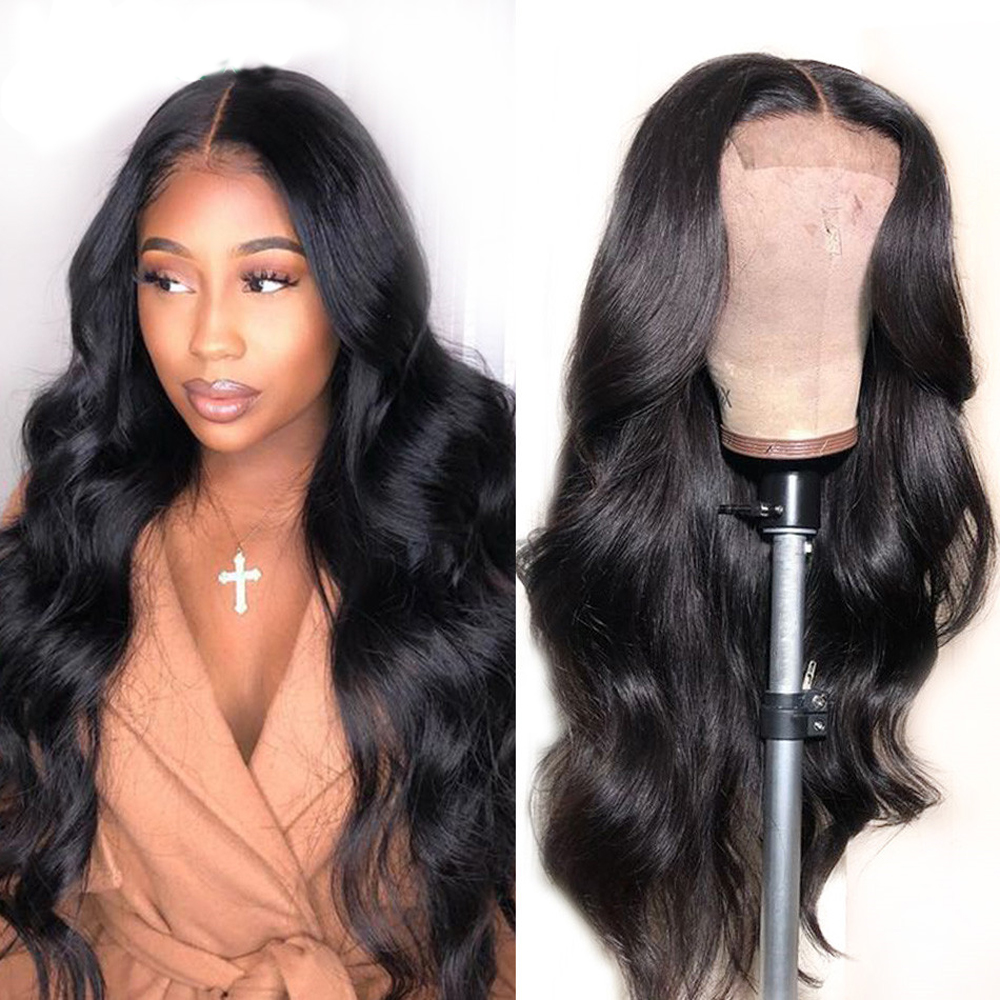 4X4 Lace Closure Wig Human Hair Wigs Body Wave Brazilian Wigs For Black Women Natural Color Non Remy Wig Mslove