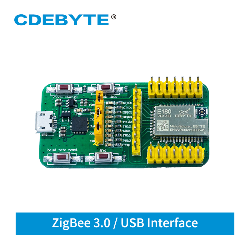 EFR32 Test Board USB Port 2.4GHz ZigBee 3.0 E180-ZG120B-TB Test Kit For Smart Home E180-ZG120B Transceiver Module