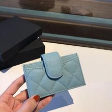 2020 new high end top customized luxury brand cardholder caviar cowhide making Lingge lady Coin Purse leisure fashion card bag