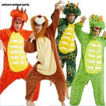 Kigurumi Onesies Green Triceratops 3d cat Cosplay halloween Christmas Party Pajamas Pyjamas costumes carnival costume