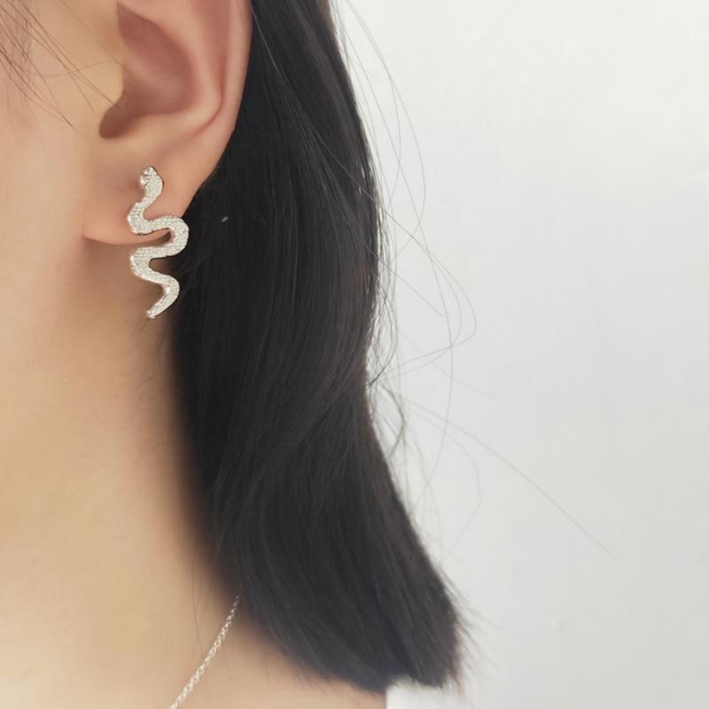 Boho Punk Schlange Stud Ohrringe Für Frauen legierung nette tier ohrringe Ohr Eardrop Mädchen Schmuck Ophidian Schlange Ohrring Brinco