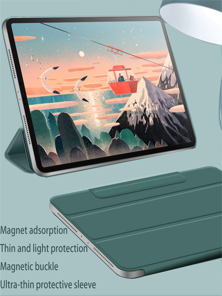 Magnetic Smart case For iPad Pro 11 2020 model A2228 PU Leather Flip Stand case for