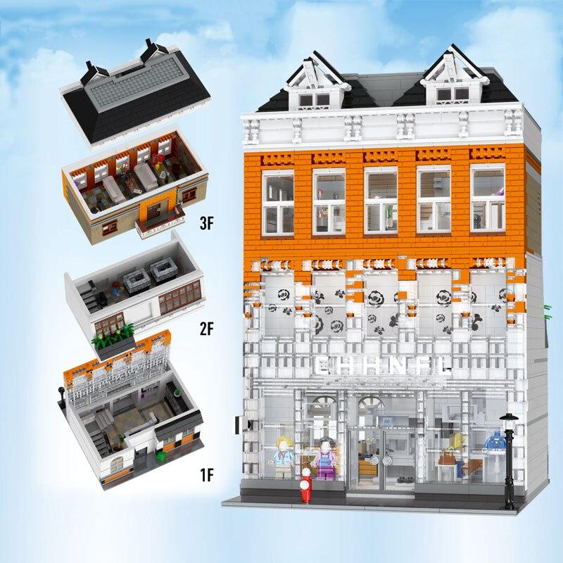 DHL Mould King 16021 3770Pcs Street Toy MOC Crystal Palace Model Assembly Building Blocks Bricks Kids Christmas Gift 15003 15004