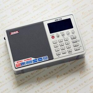 Image 3 - Tecsun ICR 110 радио FM/AM MP3 плеер Диктофон для пожилых людей цифровой аудио переносной полупроводник звуковая коробка Поддержка TF карта бесплатная доставка