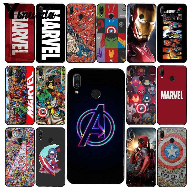 Yinuoda Deadpool Iron Man Marvel Avengers Phone Case untuk Xiaomi Redmi Note 7 5 4 Redmi 5 Plus 6A Note4 4X A2 A2lite
