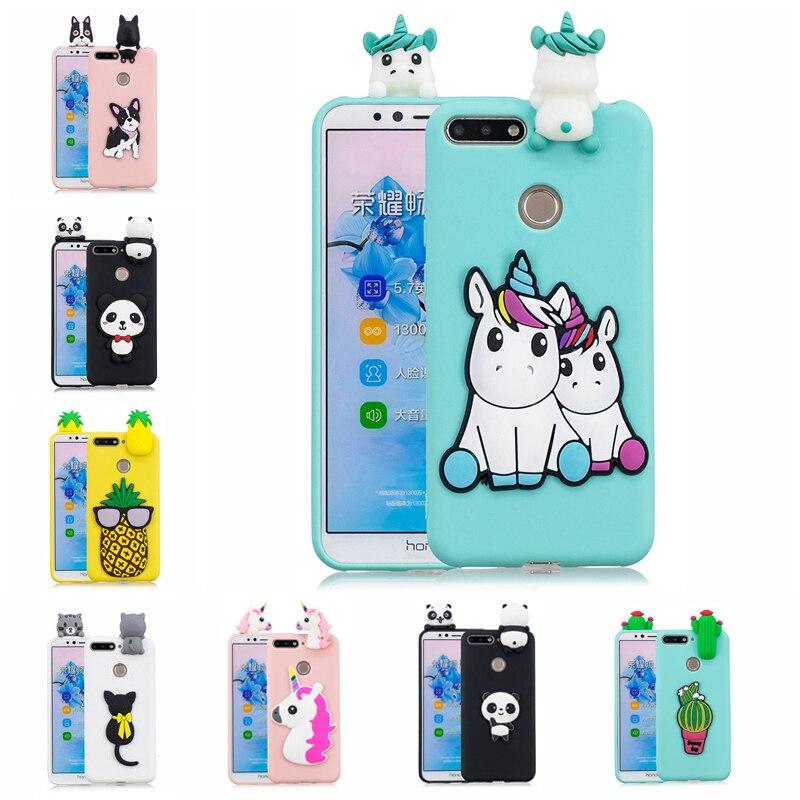 3D Unicorn Panda Bear Cactus Soft Silicon TPU Case For Huawei P Smart Z 2019 Honor 7A 7C Pro 7S 8S 8 9 10 Lite 10i 8X 8C 8A Case