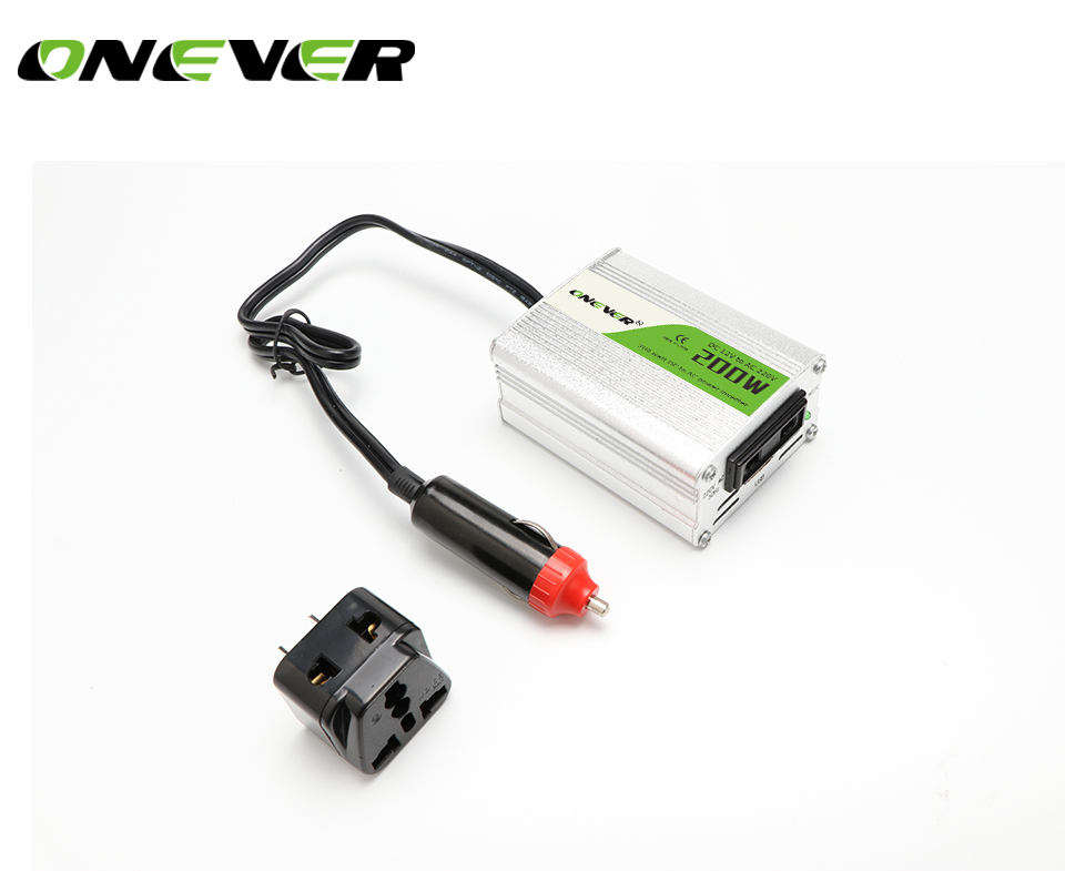 Car Power Inverter Converter 200W USB Charger DC 12V To AC 220V  With USB 5V Output Digital Camera