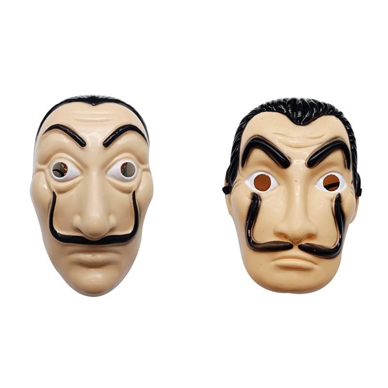 2019 Dali Plastic Halloween Mask Paper House La Casa De Papel Cosplay Decoration Masquerade Funny Tools Funny Mask