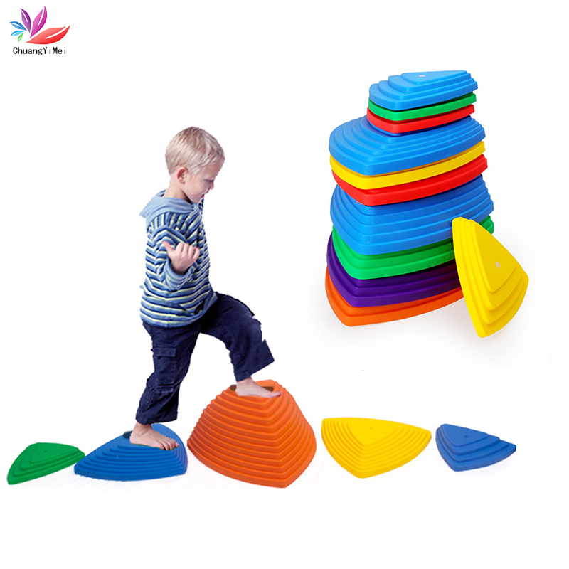 Children Stepping Stones Spiky Across River Brick Kindergarten Game Props Balance Massage Sensory Training Sports Kids Teamwork