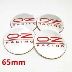 4 шт. 56 мм 65 мм OZ логотип гоночного автомобиля значок эмблема центр колеса колпачки наклейка Центр колеса этикетки для крышек аксессуары для стайлинга автомобиля