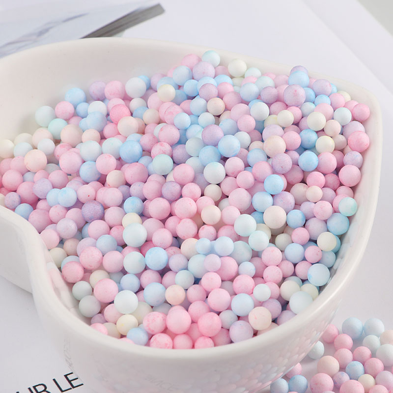 14000pcs/bag Sweet Color Round Foam Ball DIY Handmade Slime Material Box Makeup Bucket Filling About 2-4mm/4-6mm