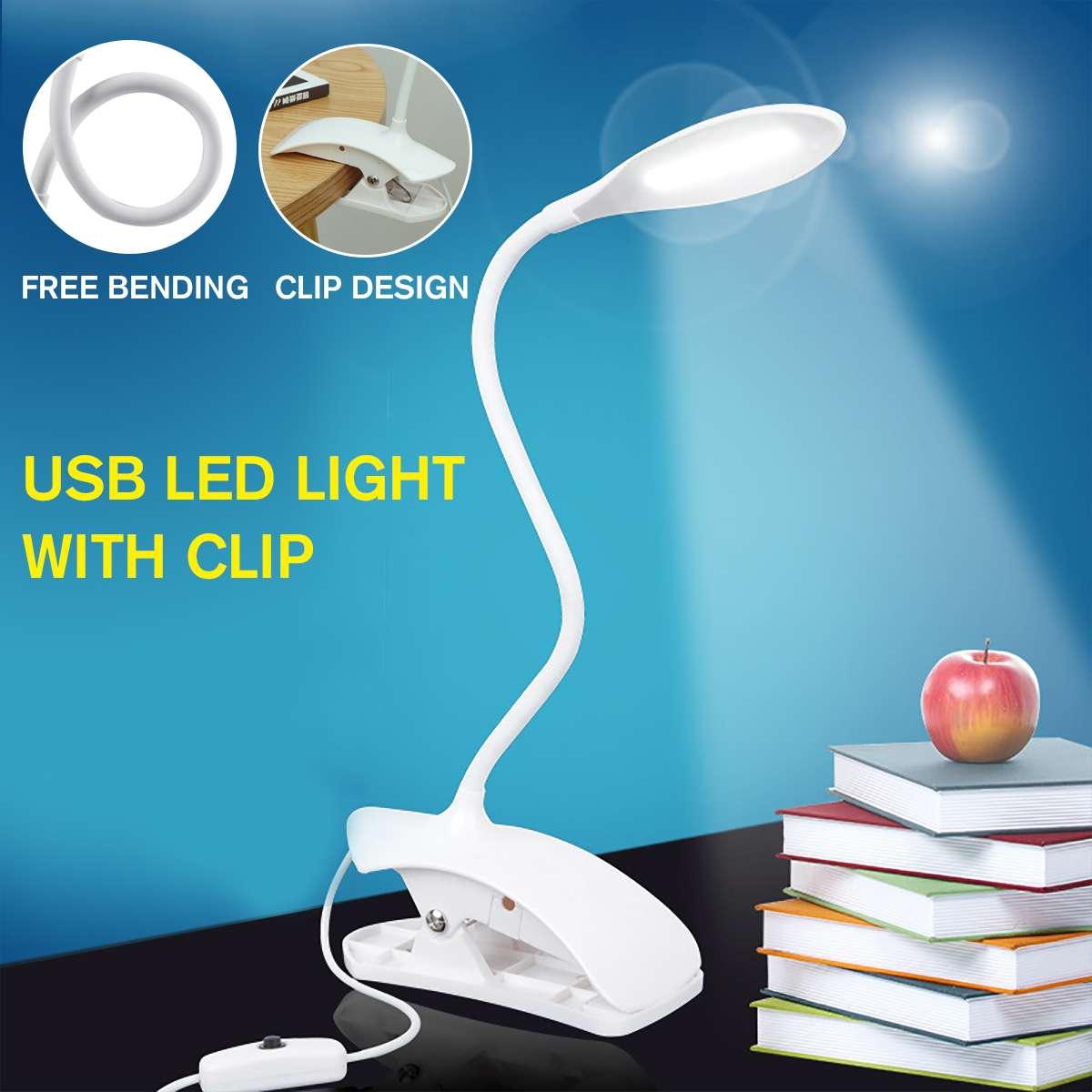 USB питание светодиодный USB книга лампа для чтения гибкая книга лампа зажим регулятора освещения настольная лампа для ноутбука ПК компьютеры