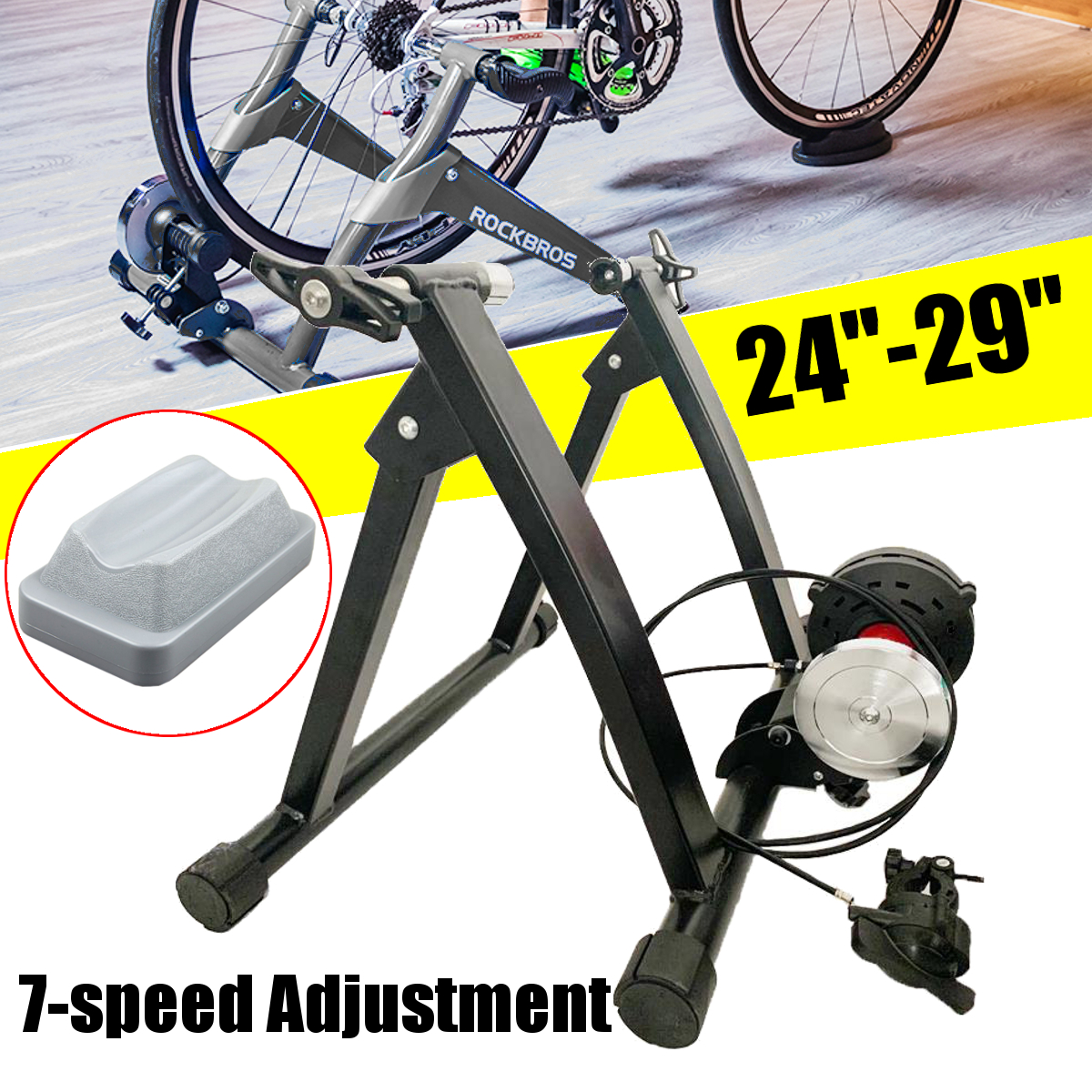 24-29 Inch Indoor Bicycle Bike Turbo Trainer Exercise Resistance Fitness Stand