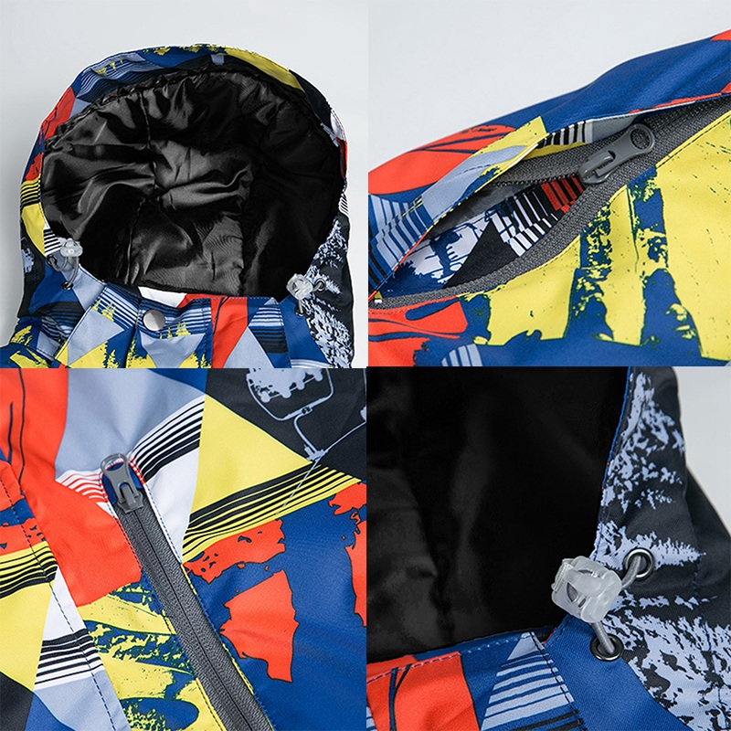 Mutusnow jaqueta de esqui impermeável dos homens